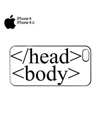 HTML tag code Head Body Mobile Cell Phone Case Cover iPhone 5c Black Noir