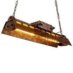 KJLARS Vintage Pendellampe Leuchte industrielle Retro Pendelleuchte Hängeleuchte Eisen-Stil Kronleuchter Hängelampe, für Wohnzimmer Esszimmer Restaurant Keller Untergeschoss Bar usw