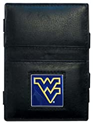 NCAA West Virginia Mountaineers Leather Jacob's Ladder Wallet