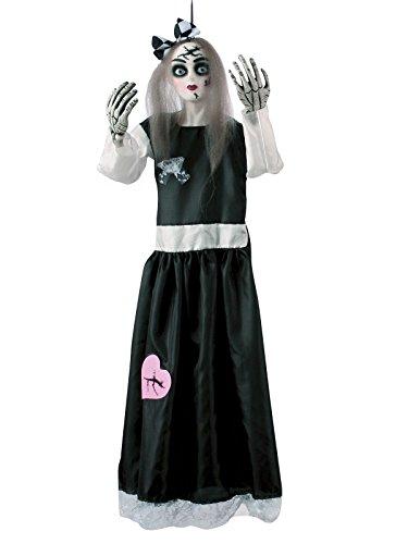 Generique - Gruselige Porzellan-Puppe Raumdekoration Halloween bunt 91cm (Gruselige Puppen Für Halloween)