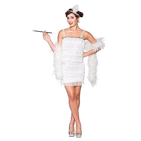 Showtime Flapper - White Ladies Fancy Dress Costume Halloween