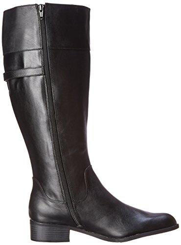 Easy Spirit Domina Breit Rund Leder Mode-Knie hoch Stiefel Black EVyJRYDm5