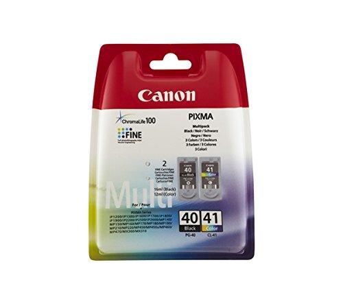 Preisvergleich Produktbild Canon Tintenpatrone Canon CL41+P40 schwarz+farbig Multipack VE=2 Stück