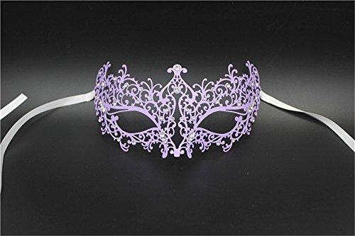 Maske Maskerade Fotografie Requisiten venezianischen Metall Maske Tanz Verkleiden Sich Gold und Silber Maske, Lila