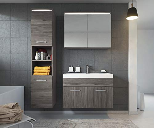 Badezimmer Badmöbel Set Paso LED 80 cm kaufen  Bild 1*
