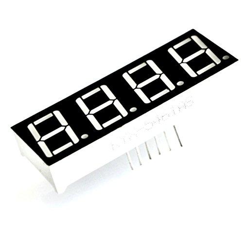 LED 4-Digital Display 7Segmente 0,9cm Mini Modul Gemeinsame Kathode für Uhr Timer zeigt von Optimus Electric -