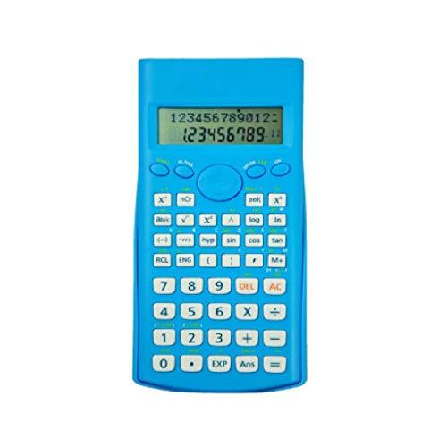 WM Home Kleiner tragbarer Taschenrechner Multifunktions-Studenten-Wissenschafts-Funktions-Taschenrechner-Knopf-Test-Taschenrechner (Color : Blue)