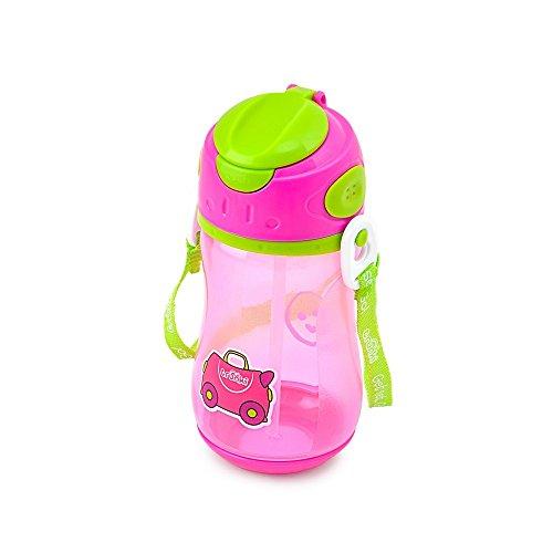 Trunki Bottiglia d'acqua per bambini con paglia e tracolla - Trixe (Rosa)