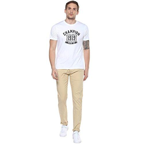 Urbano Fashion Men's Cream Slim Fit Stretchable Casual Chinos (chino-cream-32-fba)