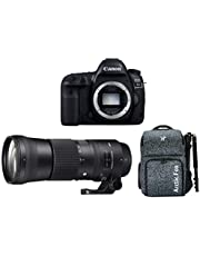 "Canon EOS 5D Mark IV 30.4MP DSLR Camera (Body) + Sigma 150-600mm f/5-6.3 DG OS HSM Contemporary Lens + Arctic Fox Camera Bag with Lens, 15.5"" Laptop & Tripod Holder"