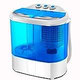 FOBUY Mini lavatrice a doppia vasca (lavaggio 3.6KG + asciugatura 2KG) Rondella portatile centrifuga compatta da 120W