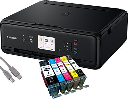 Canon Pixma TS5050 Tintenstrahl-Multifunktionsgerät (Drucken, Scannen, Kopieren, WLAN, Print App) + USB Kabel & 5 Youprint Tintenpatronen (Originalpatronen ausdrücklich nicht im Lieferumfang)