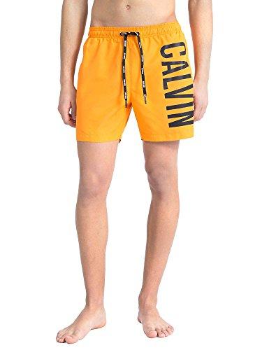 Calvin Klein Jeans Medium Drawstring Badeshorts sun orange -
