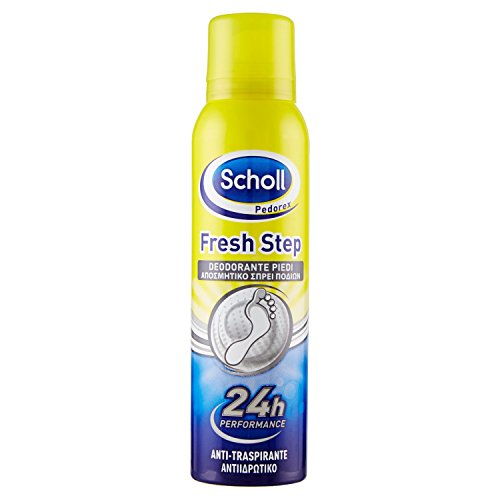 Scholl deodorante spray per piedi, 24 h azione antiodori, 150 ml