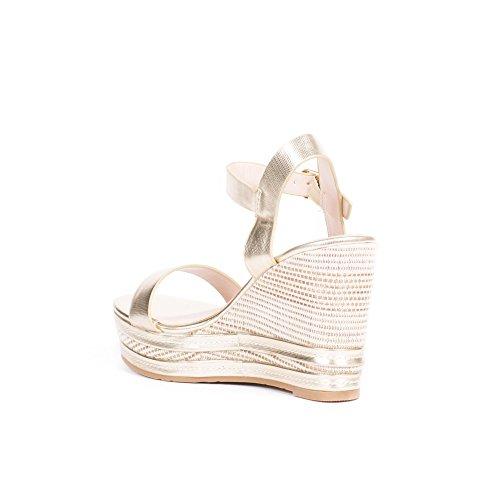 Nrof8qfw Et Sandales Shoes Ideal Compensées Doree Amelyne Nacrées LRAj54