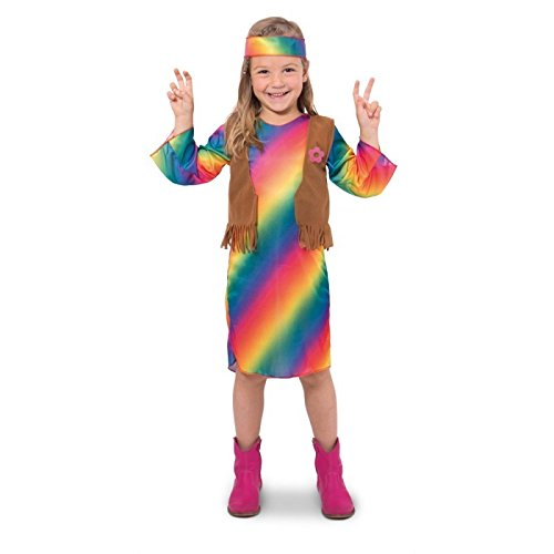 Folat 63226 -  Hippie-Kleid Flower Power Girls - Größe 116-134