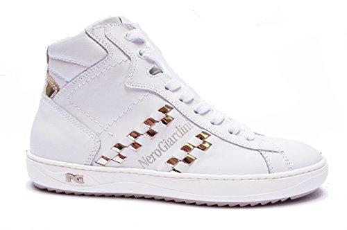 Nero Giardini  P717273d Manaus Bianco Glass Platino, Damen Sneaker Manaus Bianco Glass Platino