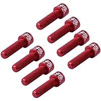 F Fityle Paquete De Tornillos De Aleación De Aluminio 8pcs para Pernos De Cabezales De Bicicleta Tallo De Bicicleta