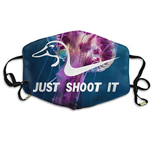 Preisvergleich Produktbild Vbnbvn Unisex Mundmaske, Wiederverwendbar Anti Staub Schutzhülle, Just Shoot It Funny Duck Hunting Reusable Anti Dust Face Mouth Cover Mask, Warm Windproof Mask