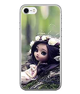 PrintVisa Designer Back Case Cover for Apple iPhone 6 Plus (lovely doll with decorated hair)