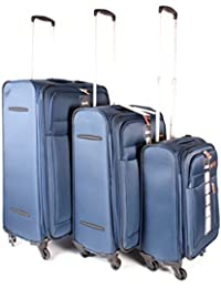 07abe3cb28e Dark Blue Jeep Fuji Super Light - Polyester Water Resistant 4 Wheeled Luggage  Set of 3
