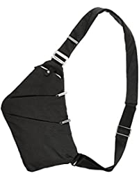 Lixada Sac à Poitrine Sling Backpack Sac Bandoulière Homme Cross Body Bag Anti-Vol de Sécurité Poitrine Poche pour Hommes Femmes