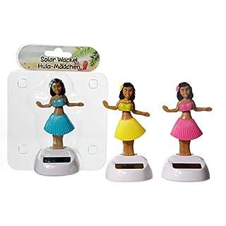 Solar Hai / Wackelfigur / Solarwackelfigur / Solar Wackel Figur / für Arbeit, Haus, Auto, Fensterbank (Hula-Hula Mädchen - 3 Farben)