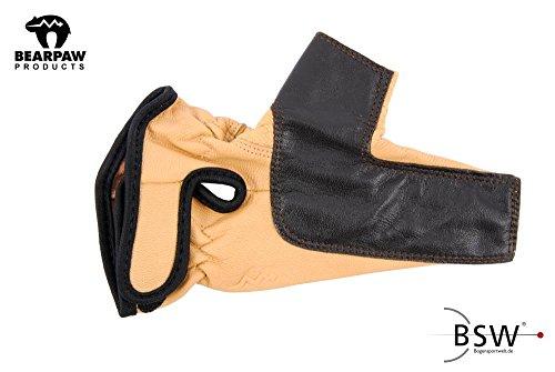 QEES Leder Bogenschiessen Fingerschutz Bogensport Handschuhe Schie/ßhandschuhe Finger Tab Besch/ützer f/ür Recurve B/ögen Jagd BZ03