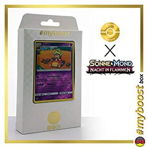 Laschoking (Slowking) 48/147 Holo Reverse - #myboost X Sonne & Mond 3 Nacht in Flammen - Box de 10 Cartas Pokémon Aleman