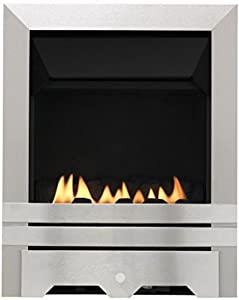 Lilliput Flueless Inset Gas Fire - Brushed Steel