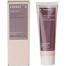 KORRES - Crema corporal hidratante y energética de violeta, pimienta blanca y terciopelo, ...