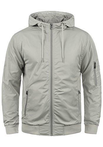 Blend razy giacca di mezza stagione piumini giubotto da uomo con cappuccio, taglia:xl, colore:stone grey (75117)