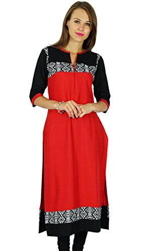 Phagun Ethnische Kurti indischen Bollywood Designer Kurta Women Casual Tunika Kleid -