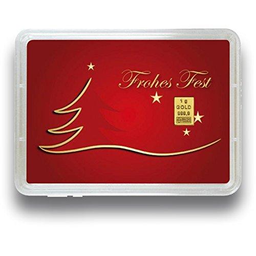 Goldbarren 1 Gramm 999.9 Feingold - Motivbox