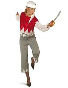 César - Disfraz de pirata para mujer, talla única (E954-001)