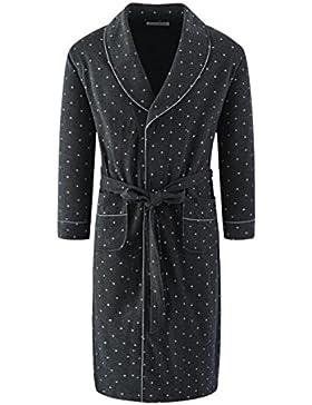 PFSYR Pijamas de hombre Albornoces de algodón de primavera y otoño/Cálido y acogedor camisón/Ropa de hogar