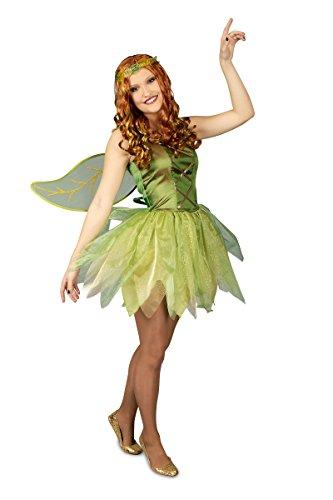 K31250416-40-42 grün Damen Feen Kleid Elfenkostüm ()