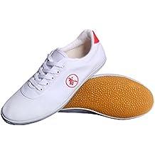 Andux artes marcial Kung Fu Tai Chi zapatos de Dichotomanthes Sole Old Beijing Unisex Zapatos TJX-01 Blanco (Blanco, 41)