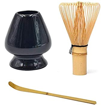 paletta in bamb/ù Set frusta da t/è verde Matcha in bamb/ù supporto in ceramica per frusta per la tradizionale cerimonia del t/è giapponese bianco