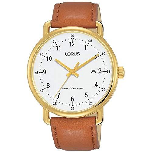 Lorus Reloj de Hombre Cuarzo 40mm Correa de Cuero Caja de Acero RH908KX9