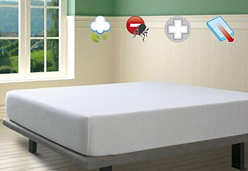 Savel proteggi materasso antiacaro impermeabile e transpirante. 100% cotone. una piazza e mezza (120x200cm)
