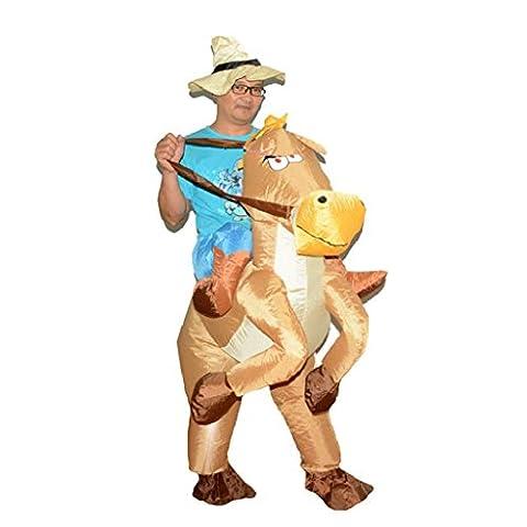 Cerf Costume Outfit - Gazechimp Adulte Déguisement Costume Cowboy Gonflable en