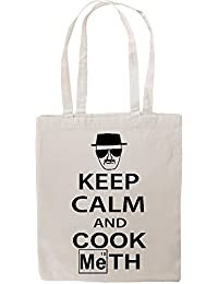 Keep Calm And Cook Meth Breaking Bad Funny Tote Shopping Bag