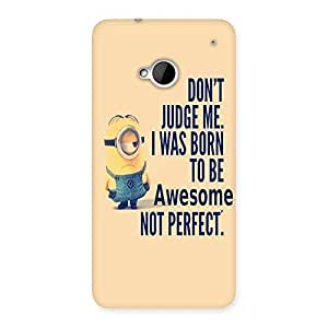 Enticing Quote Minio Yel Back Case Cover for HTC One M7