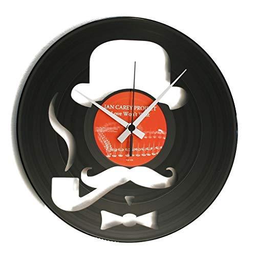 Disc'O'Clock Orologio in Vinile da Parete LP 33 Giri Silenzioso - Harry - Idea Regalo A Tema Hipster