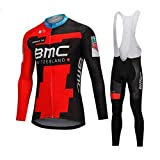 Sports Thriller Rider XiXiMei EU RG15 Mountain Bike Abbigliamento per Uomo Ciclismo Salopette Manica Lunga e Pantaloncini Combinazione Large