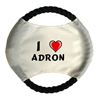 Personalised dog frisbee with name: Adron (first name/surname/nickname)