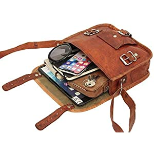 41Sxl0%2BAr0L. SS300  - Gusti Leder Emilia 7 - Bolso bandolera de piel para tablets de 7 pulgadas, estilo vintage