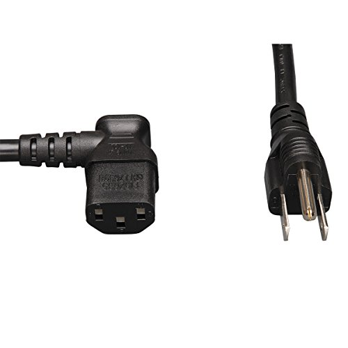 Tripp Lite (1,8m schwarz 18AWG Power Cord (NEMA 5-15p auf iec-320-c13Links gewinkelt) -