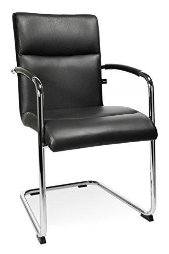 Topstar NS790A80 T710, Besucherstuhl, Konferenzstuhl, inkl. Armlehnen, Leder, schwarz